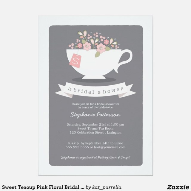 Cheap Wedding Shower Invitations Cheap Wedding Shower Invitations Beautiful Sweet Teacup Pink Floral