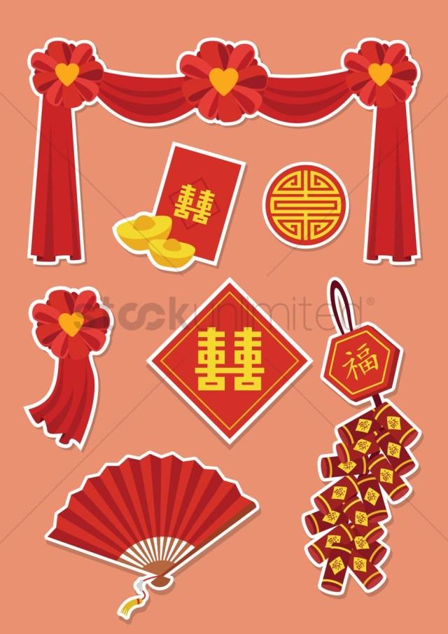 Chinese Wedding Decorations Chinese Wedding Decorations Vector Image 1244215 Stockunlimited