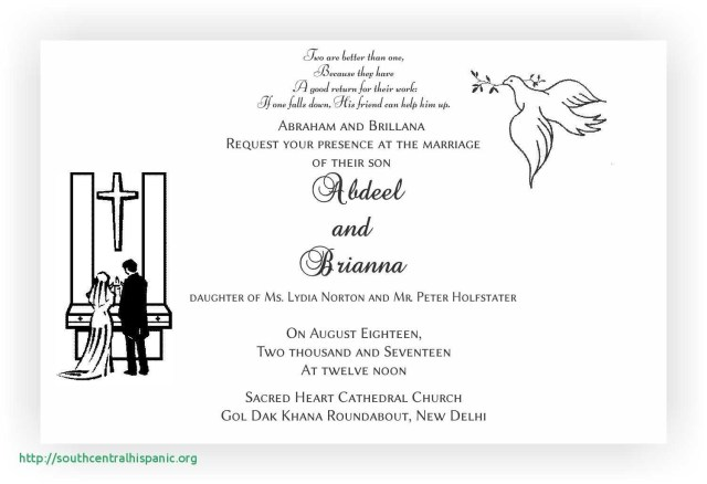 Christian Wedding Invitation Designs Wedding Card Wordings Awesome 25 Beau Christian Wedding Invitation