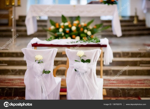 Church Decoration For Wedding Beautiful Church Decorated For Wedding Ceremony Stock Photo