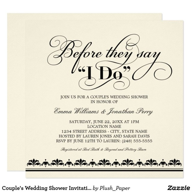 Coed Wedding Shower Invitations Couples Wedding Shower Invitation Wedding Vows In 2018 What A