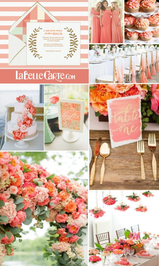 Coral Wedding Invitations Wedding Invitations And Decorations For A Lovely Coral Colored