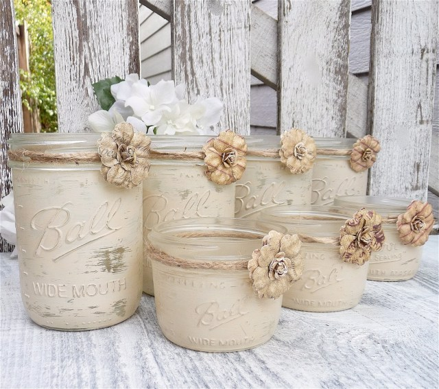 Country Chic Wedding Decor Country Chic Wedding Centerpieces Burlap And Lace Covered Votive