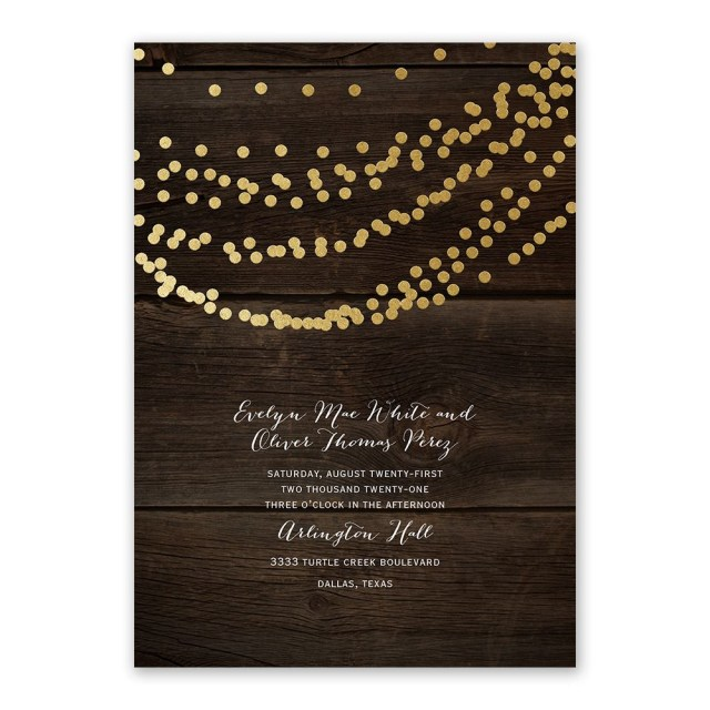 Country Wedding Invitations Cheap Rustic Beauty Foil Invitation