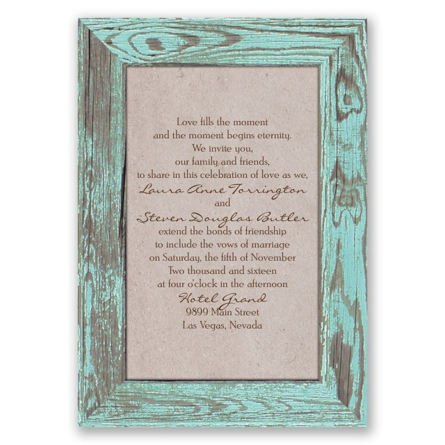 Country Wedding Invitations Cheap Rustic Frame Invitation