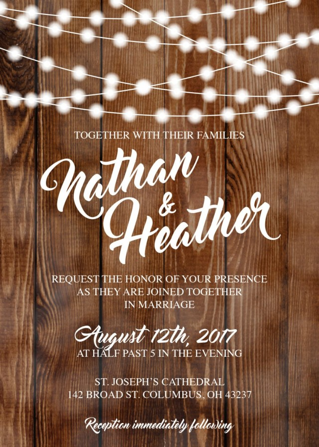 Country Wedding Invitations Cheap Rustic Wedding Invitations Burlap Kraft Wood Country Wedding