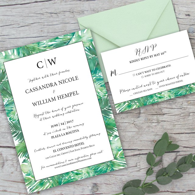 Custom Wedding Invitation Custom Wedding Invitations Marlie Renee Designs