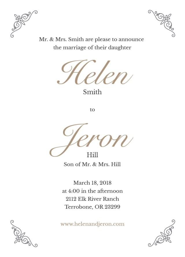 Custom Wedding Invitation Printing Simply 5x7 Wedding Invite Prints Of Love