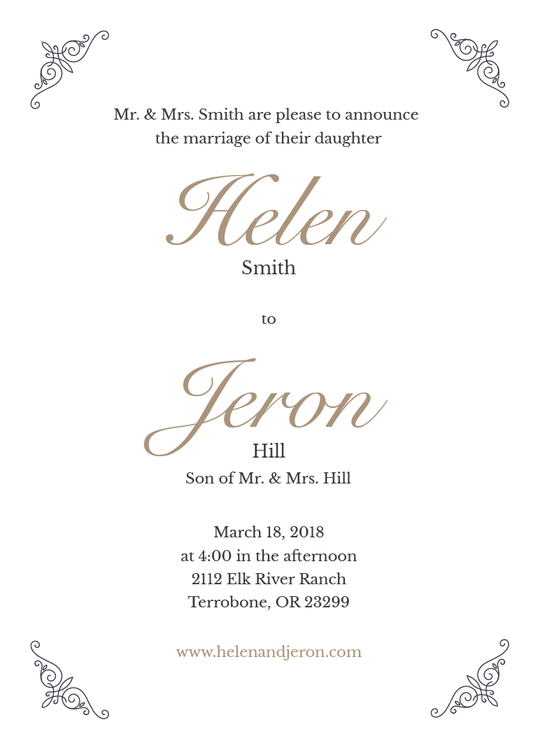 Custom Wedding Invitation Printing Simply 5x7 Wedding Invite Prints Of Love