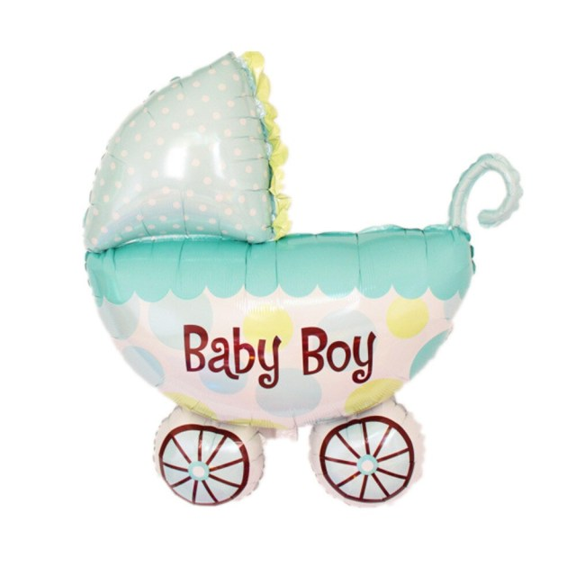 Decorating Wagon For Baby In Wedding New Strollers Ba Carriage Bottle Trojan Feet Foil Balloons Child