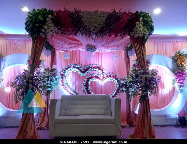 Decoration Wedding Wedding Reception Decoration At Subalakshmi Thirumana Mahal