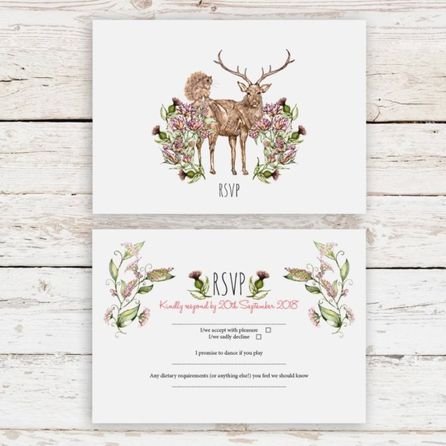 Deer Wedding Invitations Deer Wedding Invitations Beautiful Stag And Deer Countryside Wedding