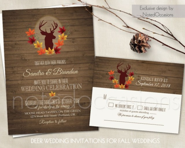 Deer Wedding Invitations Noted Occasions Wedding Invitation Designs Invitations Friday