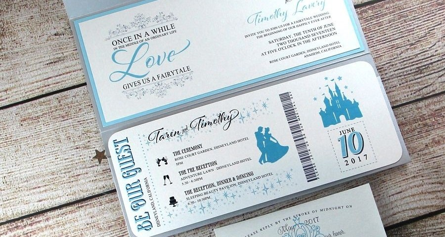 Disney Themed Wedding Invitations Disney Themed Wedding Invites Insprirations Amielee
