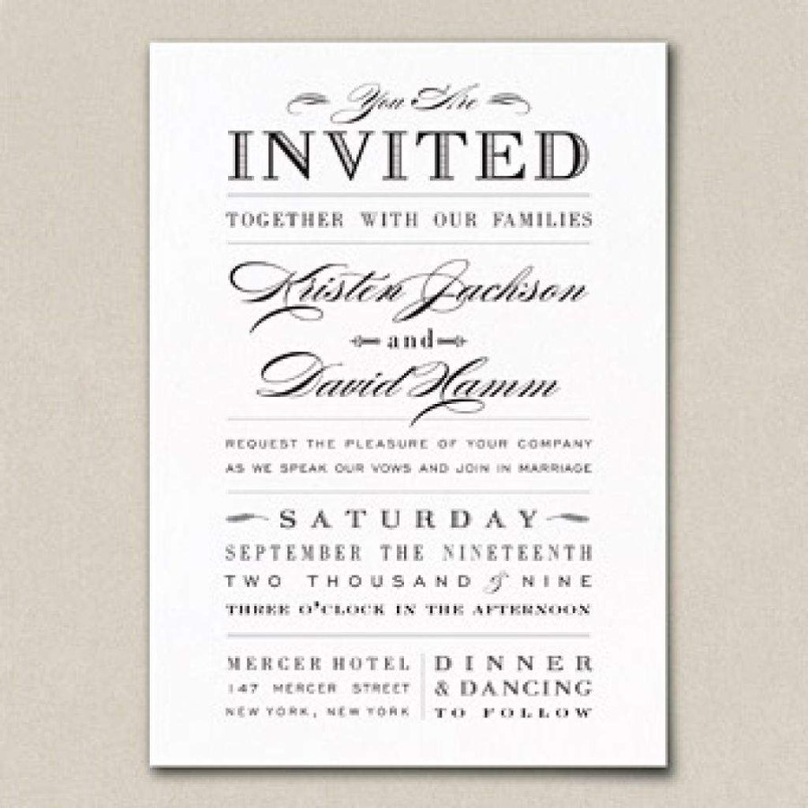 32 Inspiration Picture Of Example Of Wedding Invitation