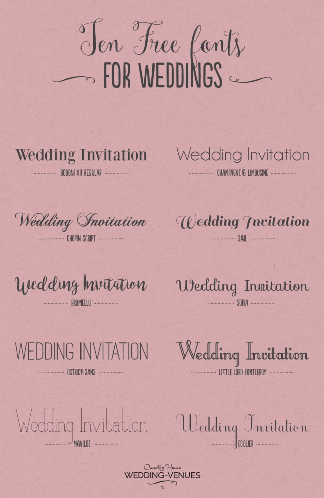 Font For Wedding Invitations 10 Free Fonts To Help You Create Your Own Incredible Wedding