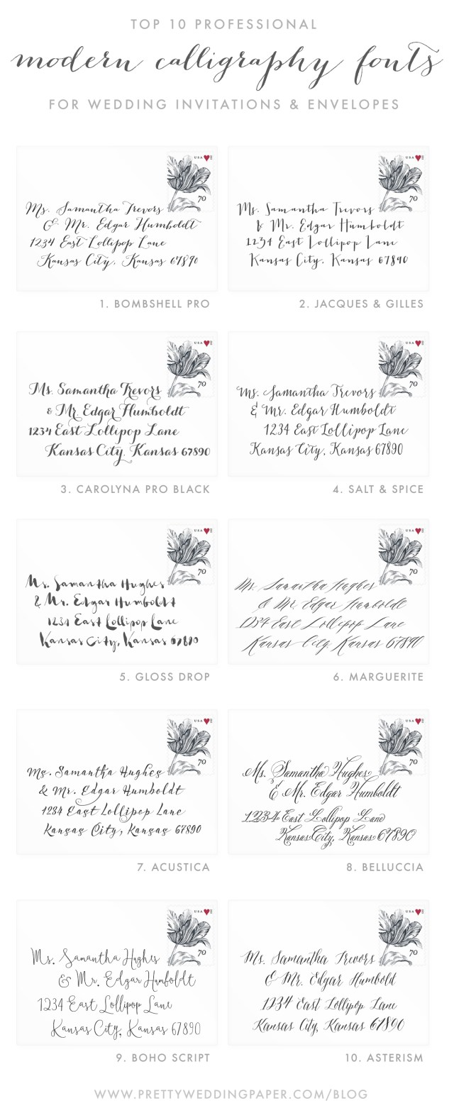 Font For Wedding Invitations 10 Stunning Modern Calligraphy Fonts For Weddings