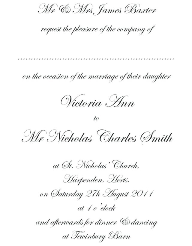 Formal Wedding Invitation Template Cake Quote Template Formal Wedding Invitation Planning