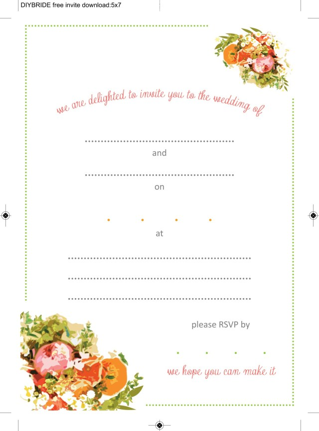 Free Printable Wedding Invitation Templates Download Wedding Invitation Templates That Are Cute And Easy To Make The