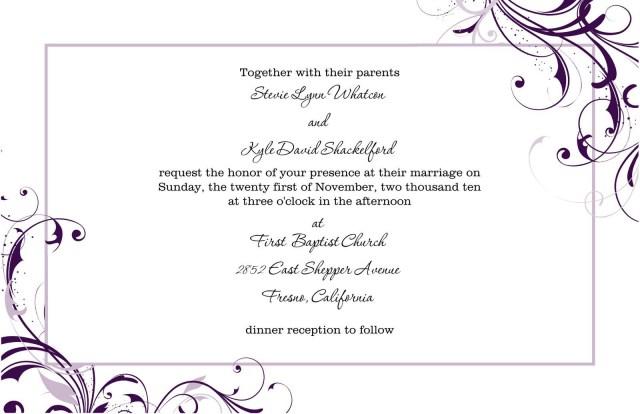 Free Wedding Invitation Printables Free Blank Wedding Invitation Templates For Microsoft Word Wedding