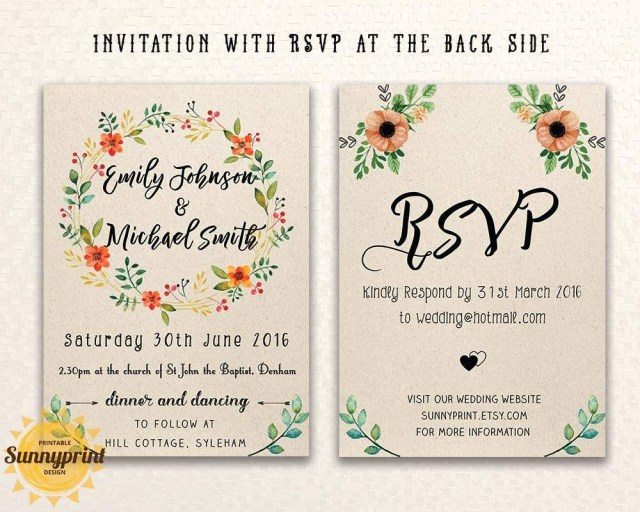 Free Wedding Invite Templates 20 Free Wedding Invitation Templates Printables Wedding