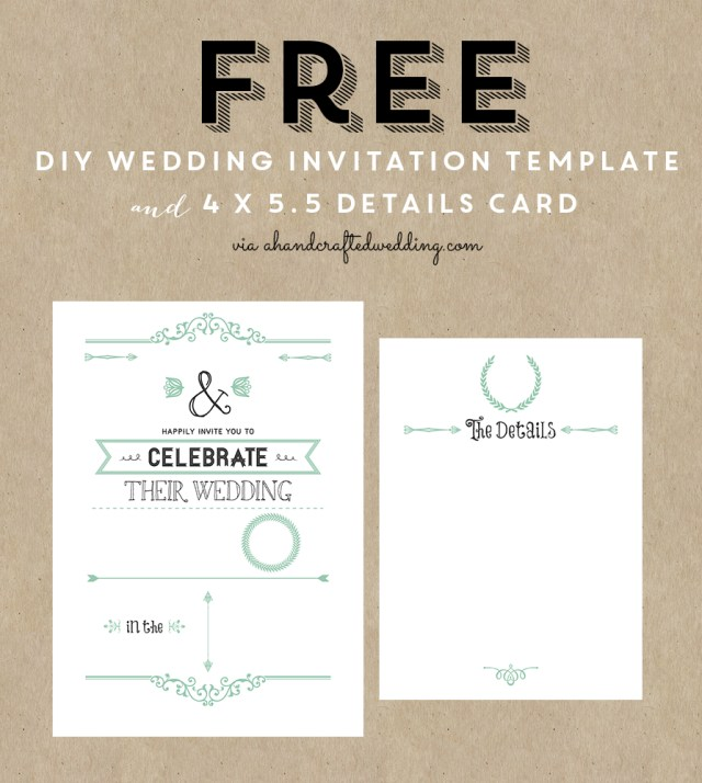 Free Wedding Invite Templates Free Printable Wedding Invitation Template All Things Wedding