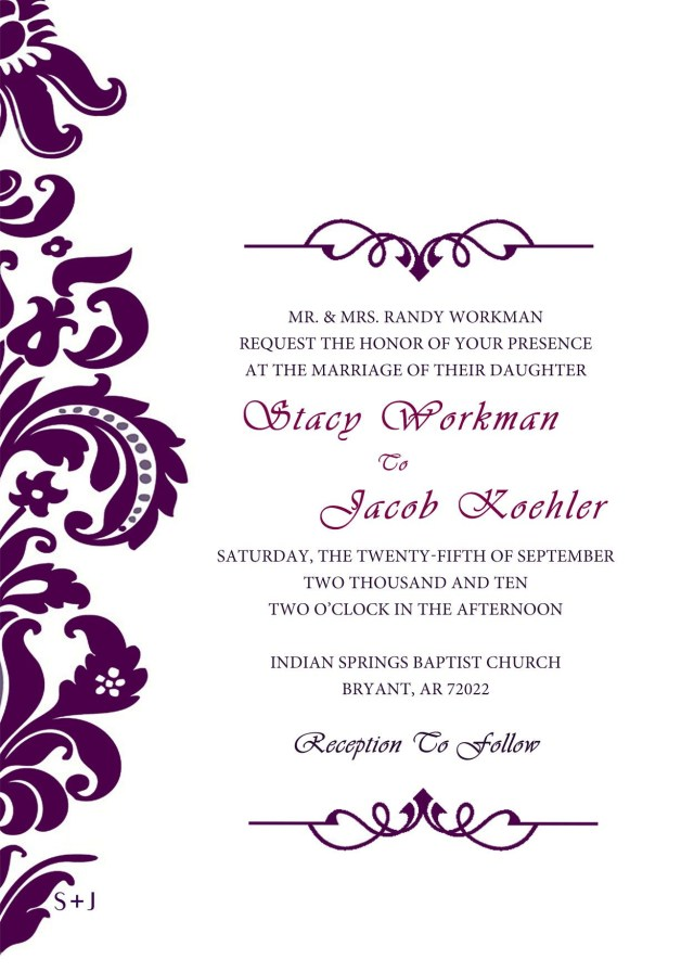 Free Wedding Invite Templates Purple Wedding Invitation Templates Clipart Free Clipart Wedding