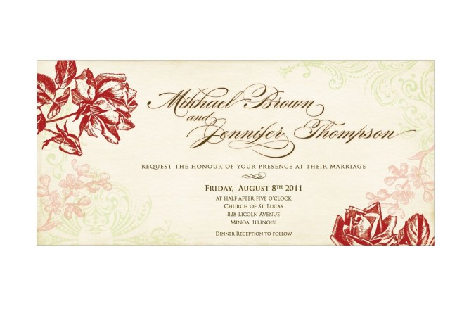 Free Wedding Invite Templates Wedding Invitation Templates Wedding Invitation Templates Vintage