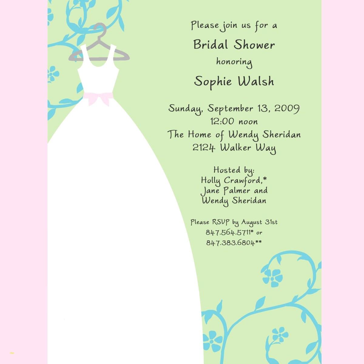 Free Wedding Shower Invitation Templates Free Bridal Shower Invitation Templates Inspirational Bridal Shower