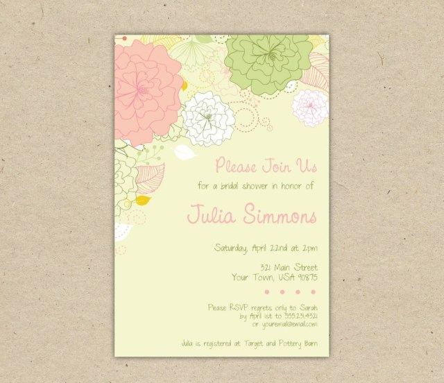 Free Wedding Shower Invitation Templates Free Bridal Shower Invitations Wedding Invitation Templates