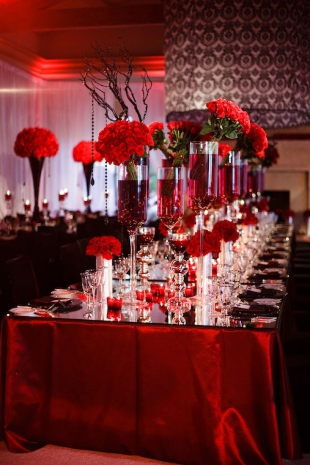 Gothic Wedding Decorations Red And Black Wedding Decorations Massvn