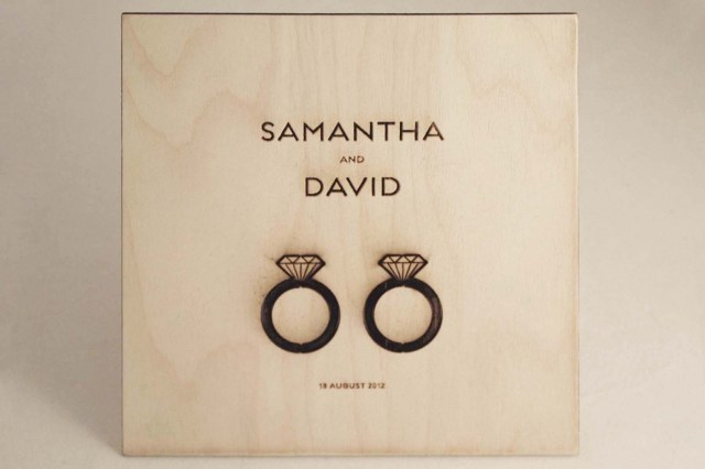 His And Hers Wedding Invitations Classic Wedding Invitations His And Her Wedding Rings Wood