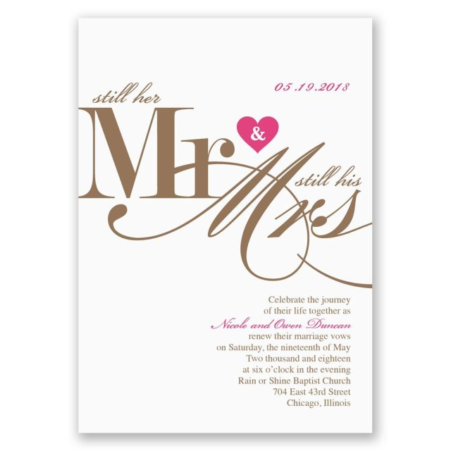 His And Hers Wedding Invitations Still Together Vow Renewal Invitation Invitations Dawn