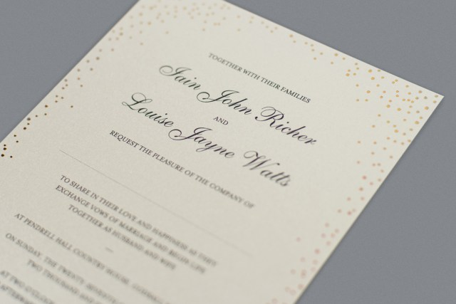 His And Hers Wedding Invitations Wedding Invitation Wording How To Get It Right Foil Invite Company