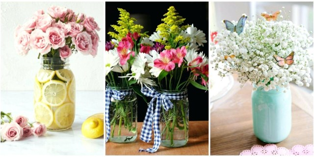Homemade Decorations For Weddings Homemade Flower Arrangements Wedding Diy Flower Table Decorations