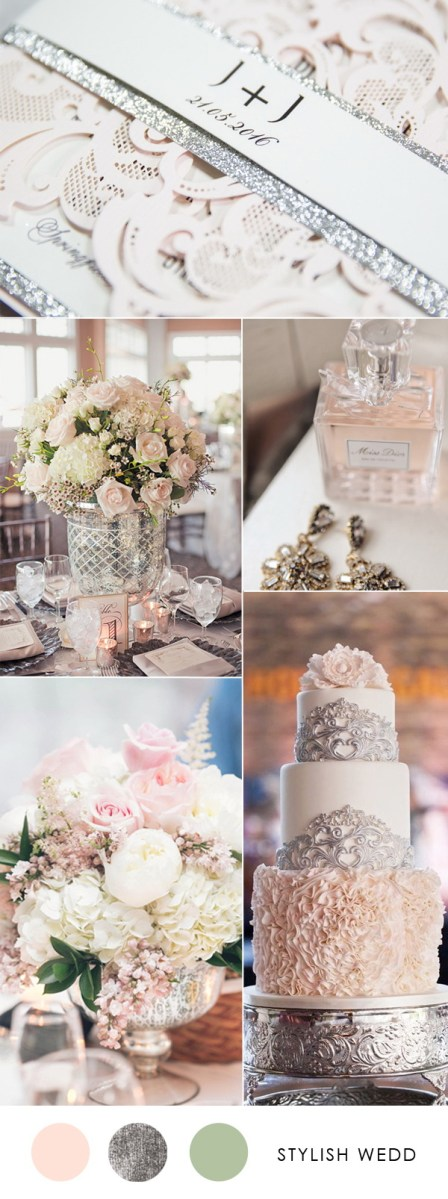 Hot Pink And Silver Wedding Decorations Pink Wedding Colors Stylish Wedd Blog
