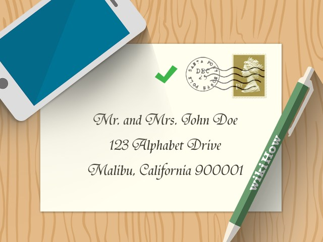How Do You Address Wedding Invitations 5 Ways To Address Wedding Invitations To A Family Wikihow