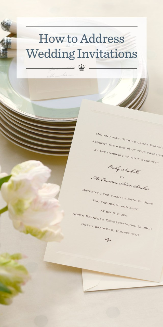 How To Address A Wedding Invitation How To Address Wedding Invitations Hallmark Ideas Inspiration