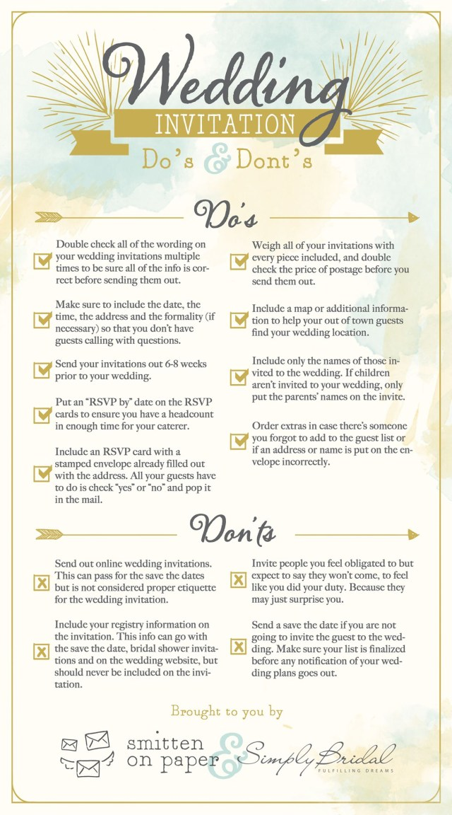 How To Address Wedding Invitations With Guest 6 Super Helpful Wedding Invitation Checklists Wedding Invitation