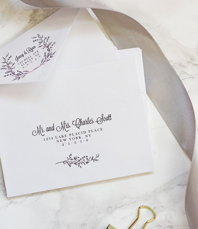 How To Address Wedding Invitations With Guest Easy Printable Envelope Template Pipkin Paper Company