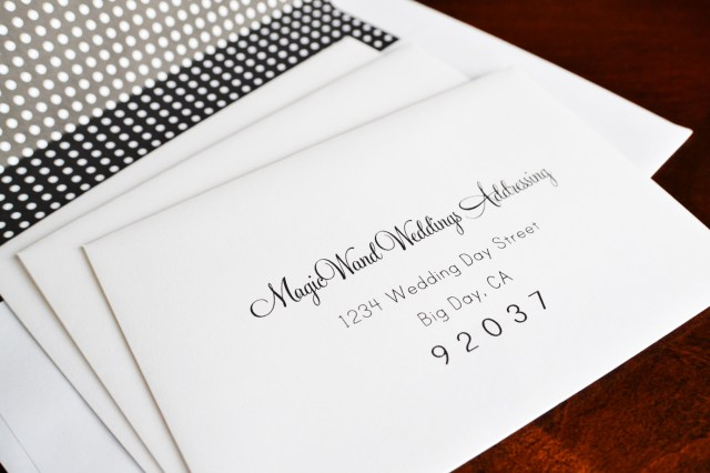 How To Address Wedding Invitations With Guest Envelope Addressing Magicwand Weddings