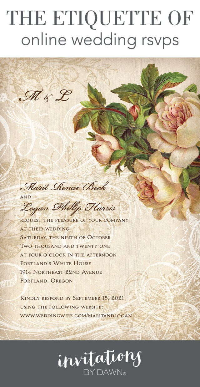How To Properly Address Wedding Invitations Online Wedding Rsvps Etiquette Invitations Dawn