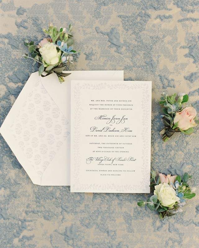 Images Of Wedding Invitations Classic And Romantic Dusty Blue Wedding Invitations