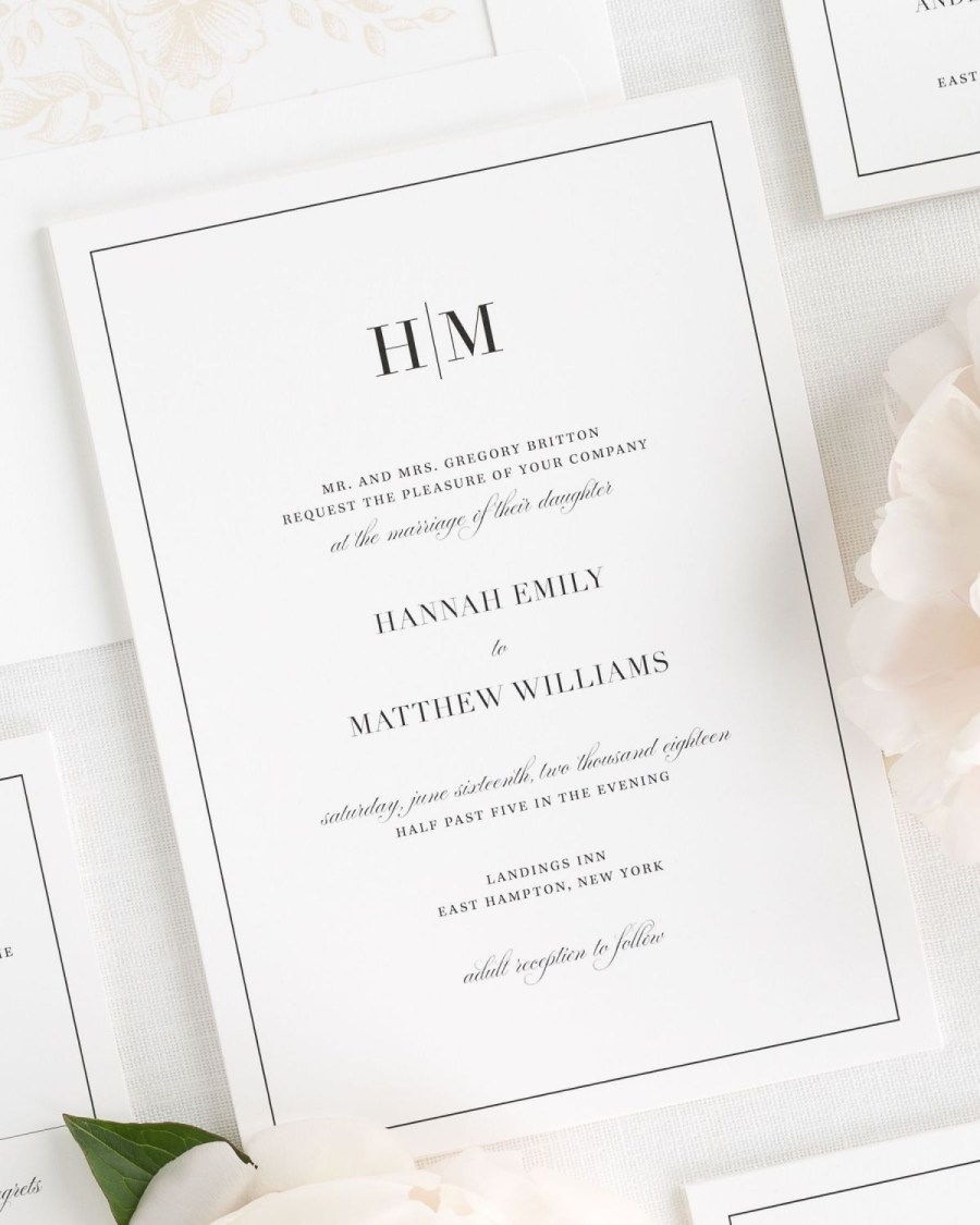 Invitations For Weddings Glam Monogram Wedding Invitations Wedding Invitations Shine