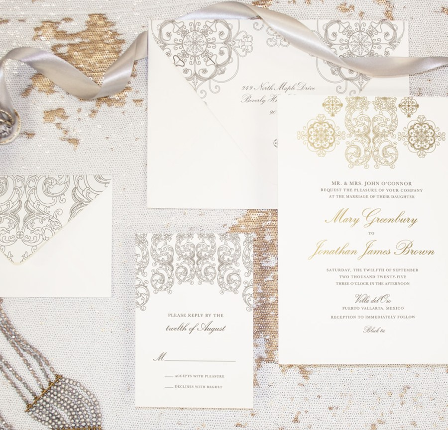 Invitations For Weddings Luxury Wedding Invitations Custom Designed Stationery Ceci New York