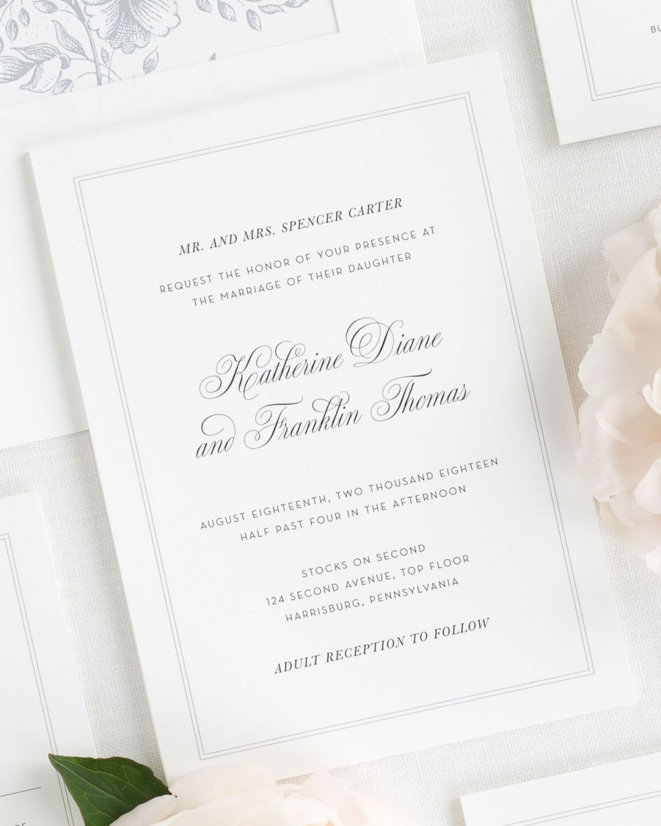 Invitations For Weddings Simply Classic Wedding Invitations Wedding Invitations Shine