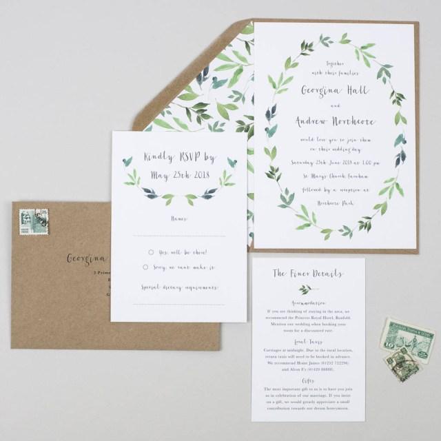 Ivory Wedding Invitations Wedding Stationery Notonthehighstreet