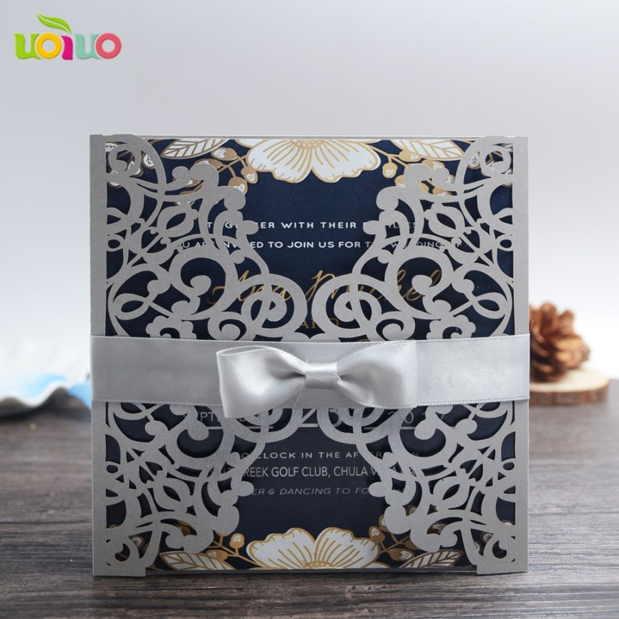 Laser Cut Wedding Invitations Diy Diy 25set Customize Inc43 Customize Laser Cut Wedding Invitation