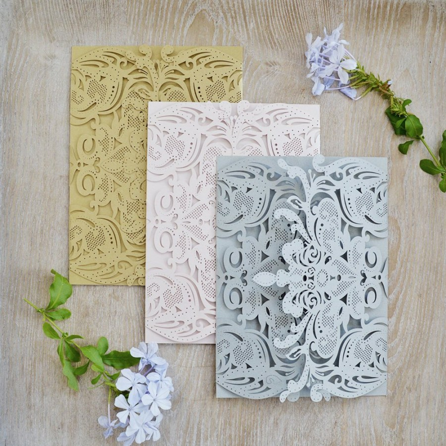 Laser Cut Wedding Invitations Diy Diy Exquisite Laser Cut Gatefold Invitation Laser Cut Wedding