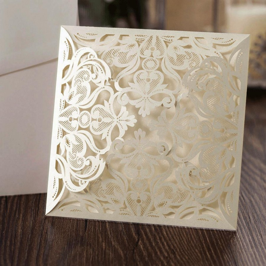 Laser Cut Wedding Invitations Diy Personalised Papercut Wedding Invitationpogofandangolaser Cut